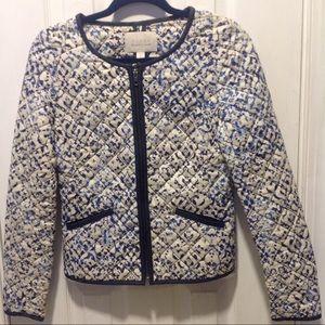 Hinge Nordstrom Collarless Quilted Print Jacket
